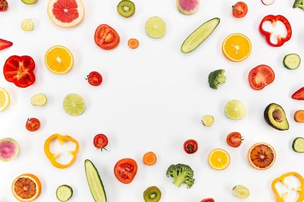 Concepto de espacio de copia de alimentación saludable Foto gratis