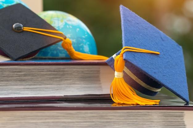 Concepto de estudios de aprendizaje en el extranjero para estudios de posgrado o educación: Foto Premium