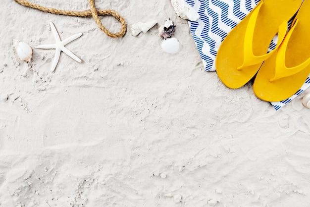 Concepto de exploración de viaje de vacaciones de verano de playa Foto gratis