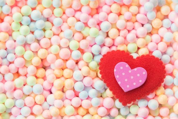 Concepto de fondo de san valentín, boda y amor. Foto Premium