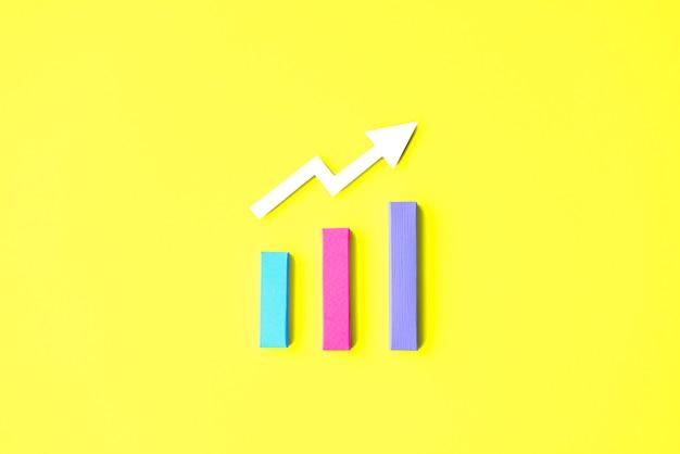 Concepto de la información del diagrama del análisis de la estrategia de las estadísticas Foto Premium