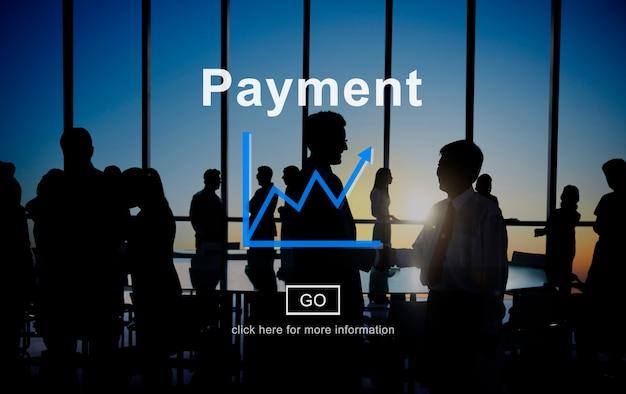 Concepto de ingresos de ganancias de financiación de pago Foto gratis