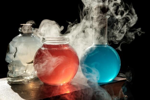 Concepto de magia y hechicería. Foto Premium