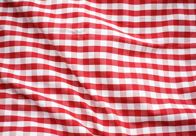 Concepto de mantel rojo a cuadros de decoración Foto gratis