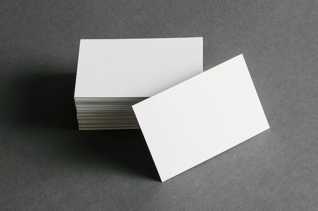 Concepto de papelería de tarjetas de visita Foto Premium