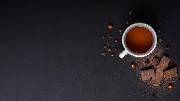 Concepto de pausa para el té con espacio de copia Foto gratis