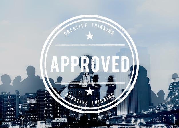 Concepto de producto garantizado de calidad auténtica aprobado Foto gratis