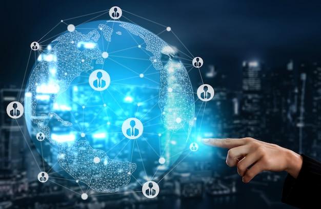 Concepto de redes de recursos humanos y personas Foto Premium