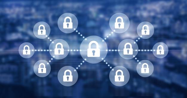 Concepto de seguridad tecnológica Foto Premium