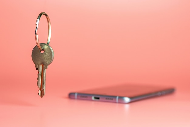 Concepto de seguridad del teléfono inteligente, protección de la red de datos móviles. Foto Premium