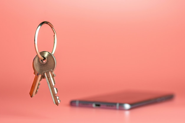 Concepto de seguridad del teléfono inteligente, protección de la transferencia de red de datos móviles Foto Premium