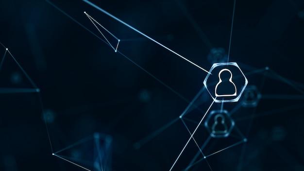 Conexiones de redes sociales Foto Premium