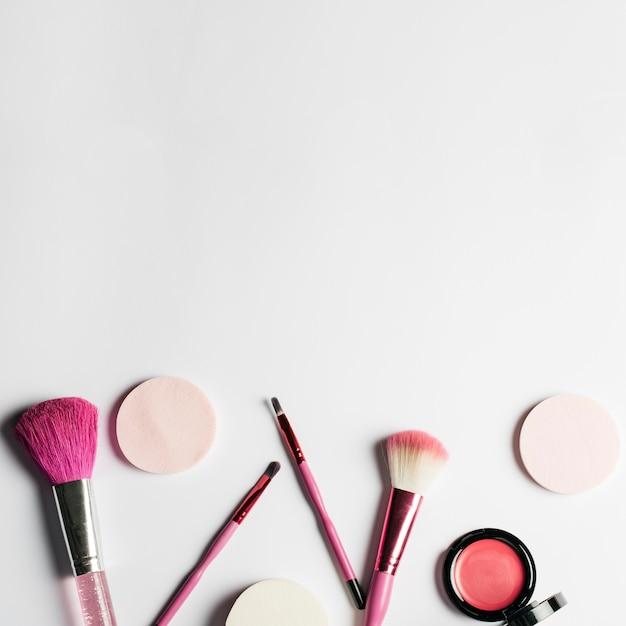 Conjunto De Make Up Y Espacio Arriba Descargar Fotos Gratis