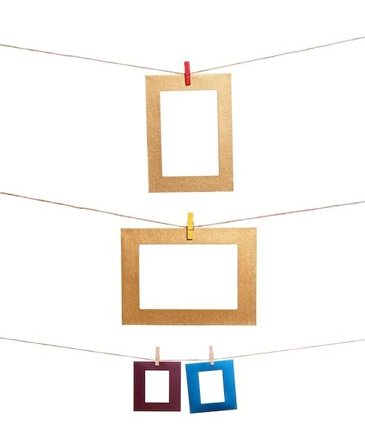 Conjunto de marco de fotos colgantes Foto Premium