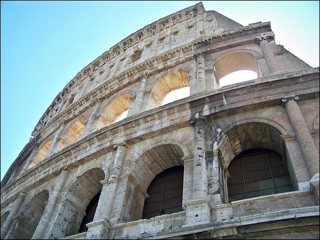 La Construcción De Arena Coliseo Romano Historia Italia Roma