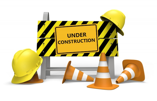 En construcción Foto Premium