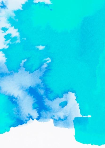Contexto de trazo dibujado mano acuarela azul turquesa y azul Foto gratis