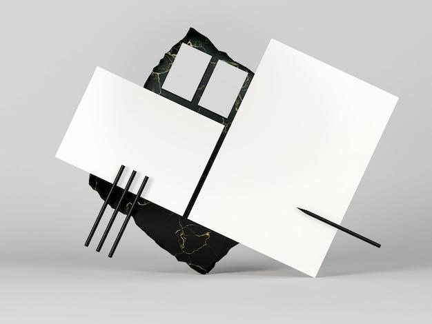 Copia espacio documentos de papelería en blanco Foto gratis