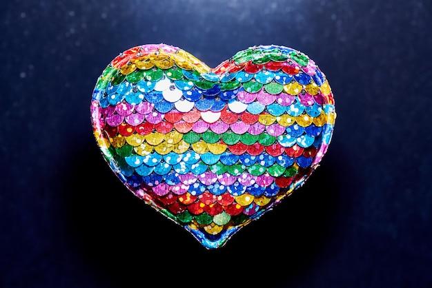 Corazón del arco iris relleno Foto Premium