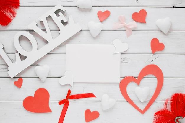 Cosas de san valentín alrededor de la hoja de papel | Descargar ...
