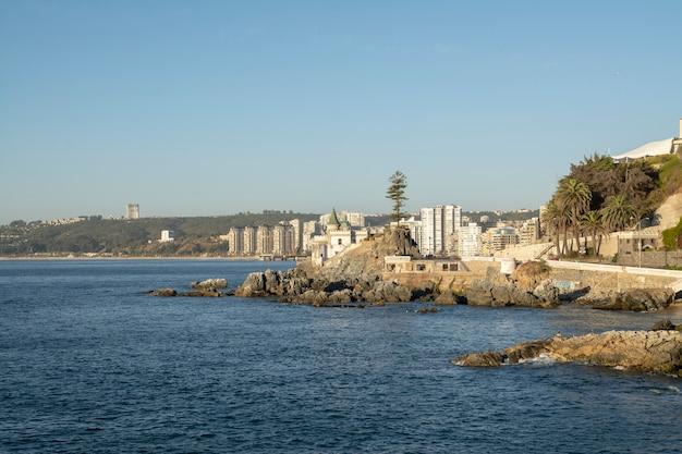 Costas chilenas llamadas viña del mar Foto Premium