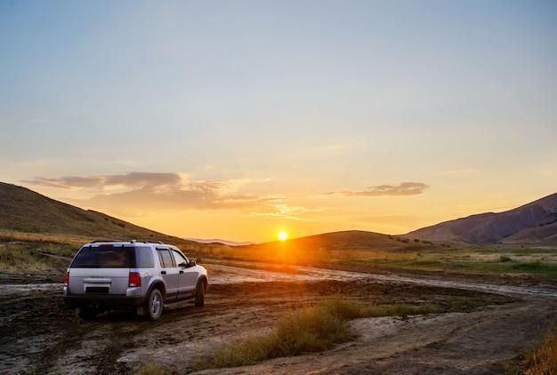 Crimea, hermosa puesta de sol Foto Premium