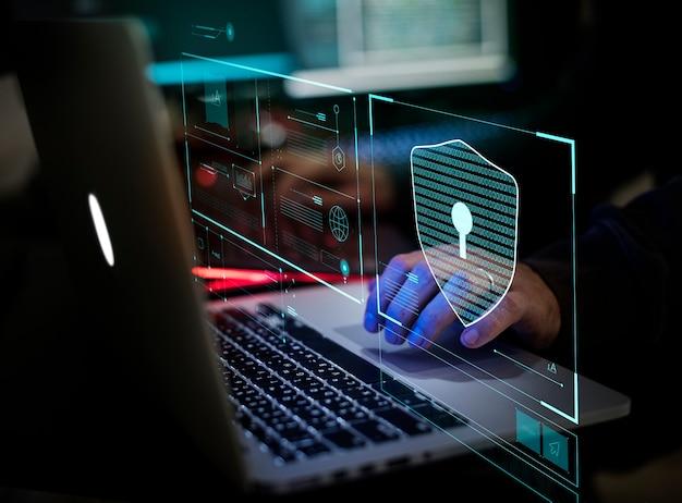 Crimen digital por un hacker anónimo Foto Premium