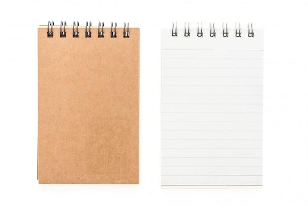 Cuaderno de mock up en blanco Foto gratis