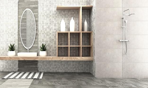 Cuarto de baño diseño interior - estilo moderno. representación 3d ...