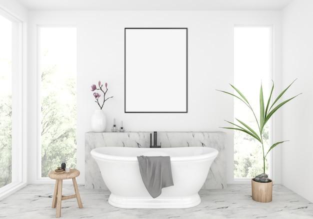 Cuarto de baño elegante, maqueta de marco vertical ...