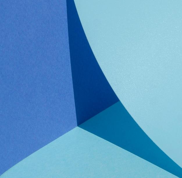 Cuarto de círculo grande de papel azul Foto gratis
