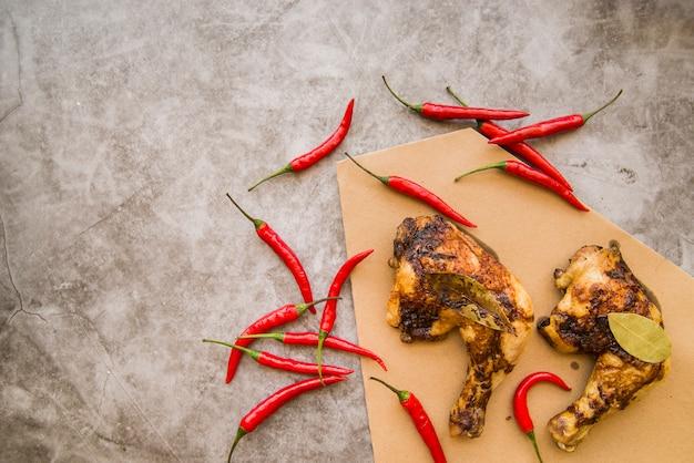 Cuartos de pierna de pollo al horno con chile   Descargar ...