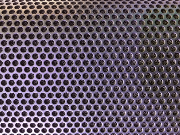 Cubierta metálica perforada del fondo del altavoz de audio Foto Premium