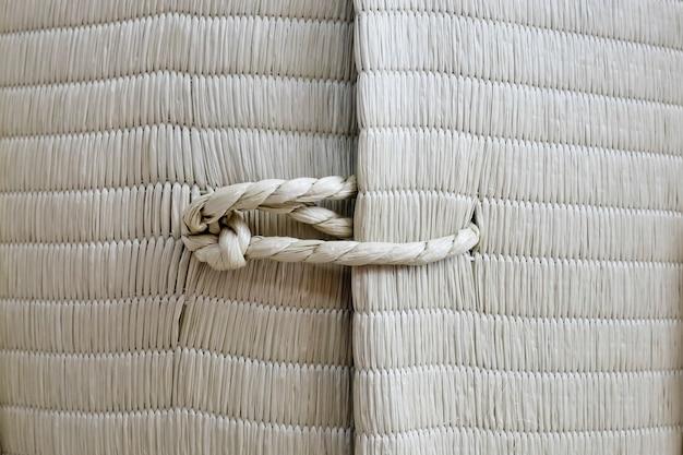 Cuerda con textura de fondo de nudo Foto Premium