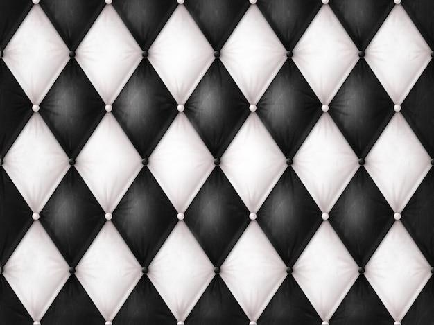 Cuero blanco y negro de lujo Foto Premium