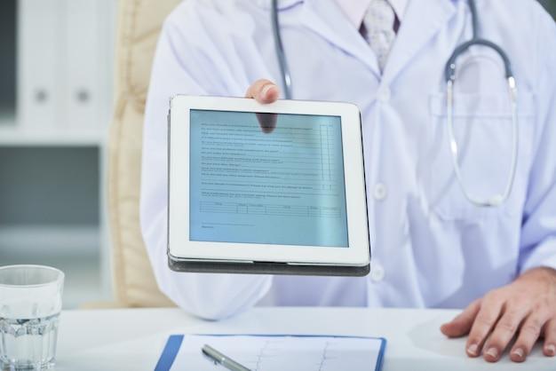 Cuestionario medico Foto gratis