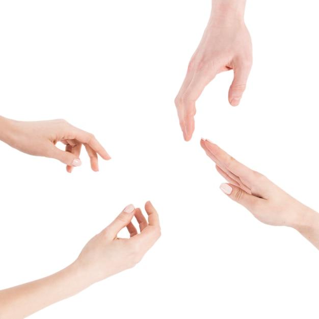 Cultivo de manos gesticulando Foto gratis