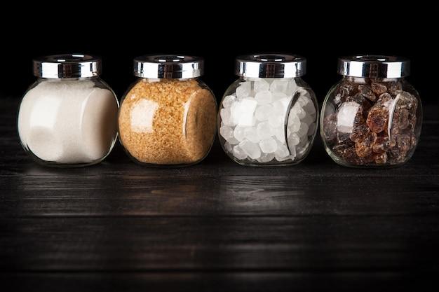 D diferentes tipos de azúcar Foto Premium