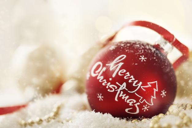 Decoraci n de bola de navidad en nieve artificial - Bola nieve navidad ...