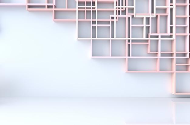 Decoración De La Habitación En Colores Pastel Rosa Vacía Con