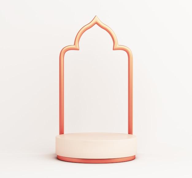 Decoración de maqueta de exhibición de podio islámico Foto Premium