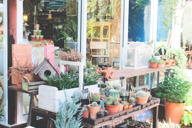 Decoraciones de jard n con casa de aves y peque as plantas Decoraciones para jardines de casas