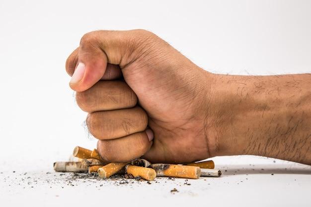 Deja de fumar. día mundial sin tabaco Foto Premium