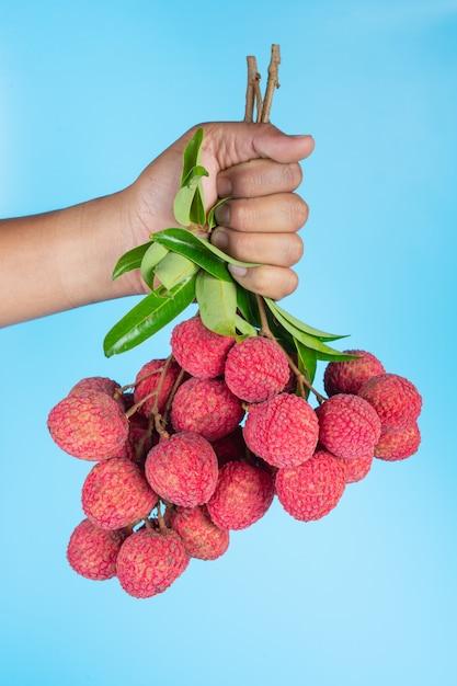 Deliciosa fruta de lichi Foto gratis