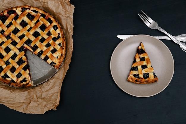 Delicioso pastel de arándanos Foto gratis