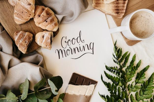 Desayuno de buenos días Foto gratis