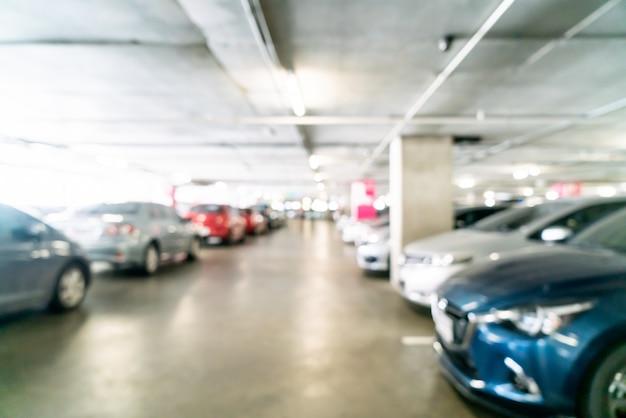Desenfoque abstracto y aparcamiento desenfocado Foto Premium
