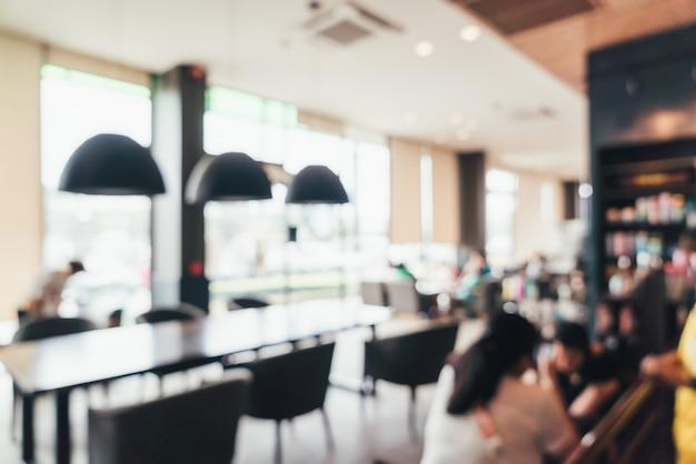 Desenfoque abstracto y cafetería desenfocada y cafetería restaurante Foto Premium