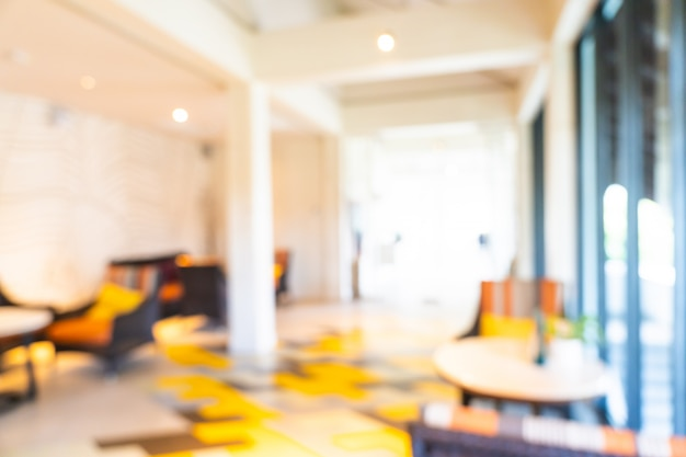 Desenfoque abstracto y desenfoque interior del vestíbulo del hotel Foto gratis