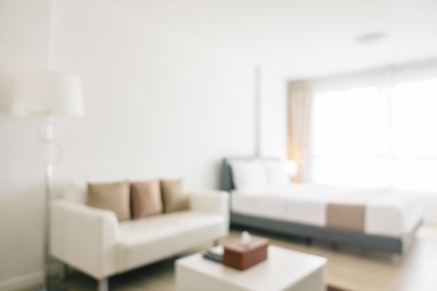 El desenfoque abstracto y el interior y la decoración defocused del dormitorio Foto gratis